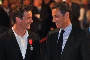 Себастьян Леб и Николя Саркози в Елисейском дворце