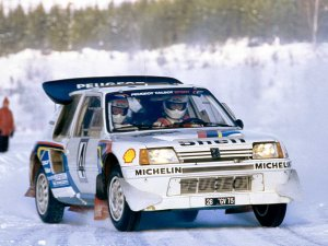 Peugeot 205 T16 Group B, ралли 1985 года
