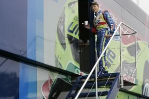 Микко Хирвонен готовится к Ралли Великобритании 2009 г.