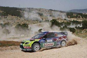 Яри-Матти Латвала за рулем Ford Focus WRC, ралли Иордании 2010 года