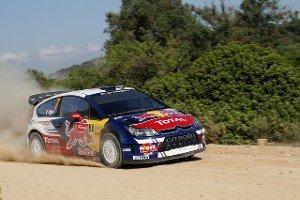 Себастьен Ожье за рулем Citroen C4 WRC