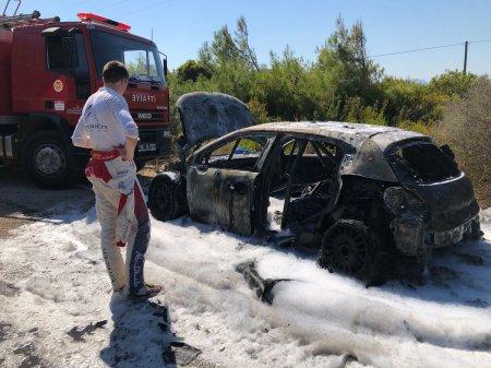 Ралли Турции 2018: Обзор СУ12 - Пожар уничтожил автомобиль Брина